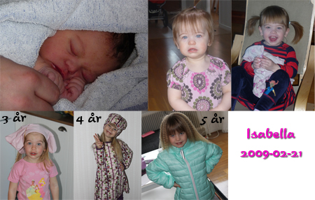 Isabella 5 år