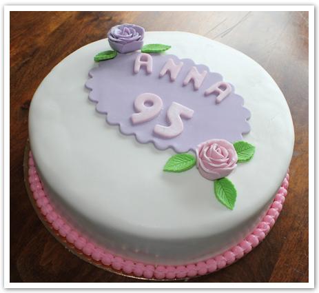 Tårta 95 år