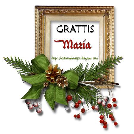 grattis maria Julkalender 2010 – 20 December: Vinnare! – Carolina 1979 grattis maria